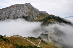 Jenner mountain. A beautiful view from Jenner mountain, a peak in Berchtesgaden, Germany Royalty Free Stock Photos