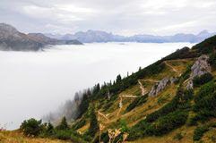 Jenner mountain. A beautiful view from Jenner mountain, a peak in Berchtesgaden, Germany Royalty Free Stock Image