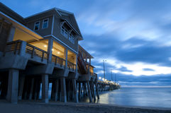 Jennette's Pier in Nags Head, NC, USA Stock Photos