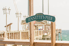 Jennette's Pier in Nags Head, North Carolina, USA. Stock Photo