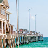 Jennette's Pier in Nags Head, North Carolina, USA. Royalty Free Stock Image