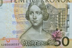 Jenni lind swedish soprano banknote Royalty Free Stock Photo