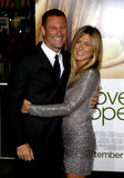 Jennifer Aniston y Aaron Eckhart Fotografía de archivo