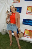 Jennifer Blanc. With Daisey Mae at Best Friends Super Adoption Festival, LaBrea Tar Pits Park, Los Angeles, Calif., 10-05-03 Royalty Free Stock Images