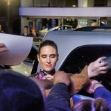Jennifer Connelly signing autographs Royalty Free Stock Images