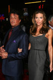 Jennifer Flavin,Sylvester Stallone Royalty Free Stock Images