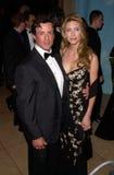 Jennifer Flavin Sylvester Stallone royaltyfria bilder
