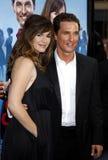 Jennifer Garner McConaughey i Matthew Zdjęcie Royalty Free