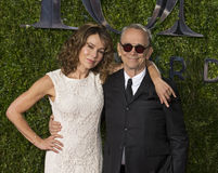 Jennifer Grey and Joel Grey at 2015 Tony Awards Stock Photo