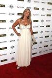 Jennifer Hansen på stora festen 2011 för G'Day USA Australien veckasmoking, Hollywood Palladium, Hollywood, CA. 01-22-1 arkivbilder