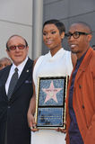 Jennifer Hudson & Clive Davis & Raphael Saadiq Royalty Free Stock Photo