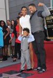 Jennifer Hudson & David Otunga & David Daniel Otunga Jr Arkivfoton