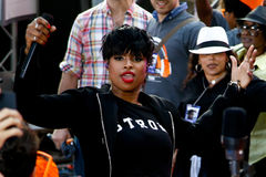 Jennifer Hudson. NEW YORK-AUG 19: Singer Jennifer Hudson performs in concert at NBC's 'Today Show' at Rockefeller Plaza on August 19, 2014 in New York City Royalty Free Stock Photos