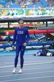 Jennifer Jenn Suhr-Stuczynski in Rio2016 Royalty Free Stock Photo