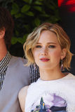 Jennifer Lawrence. CANNES, FRANCE - MAY 17: Jennifer Lawrence attends 'The Hunger Games: Mockingjay Part 1' Photocall - at the 67th Annual Cannes Film Festival Royalty Free Stock Image