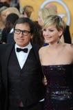 Jennifer Lawrence & David nolla russell Fotografering för Bildbyråer