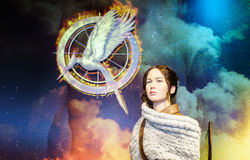 Jennifer Lawrence - de HONGERspelen royalty-vrije stock afbeelding