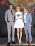 Jennifer Lawrence & Liam Hemsworth & Josh Hutcherson Stock Images