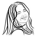 Jennifer Lawrence Line Face Art vektor illustrationer