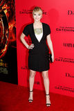 Jennifer Lawrence. NEW YORK-NOV 20; Actress Jennifer Lawrence attends 'The Hunger Games: Catching Fire' special screening at AMC Lincoln Square Theater on stock image