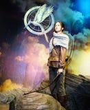 Jennifer Lawrence - os JOGOS da FOME foto de stock royalty free