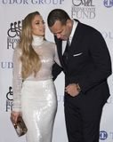 Jennifer Lopez and Alex Rodriguez. Actress, singer, dancer, and pop superstar Jennifer Lopez attends the 33rd Annual Great Sports Legends Dinner, at the New York stock image