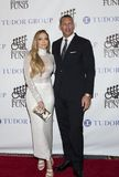 Jennifer Lopez and Alex Rodriguez. Actress, singer, dancer, and pop superstar Jennifer Lopez attends the 33rd Annual Great Sports Legends Dinner, at the New York royalty free stock image