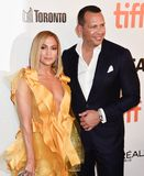 Jennifer Lopez and Alex Rodriguez at premiere of Hustlers at the Toronto International Film Festival 2019