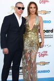 Jennifer Lopez,Casper Smart royalty free stock image