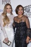 Jennifer Lopez and Cynthia Halelamien. Socialite Cynthia Halelamien and actress, singer, dancer, producer, and pop superstar Jennifer Lopez attend the 33rd royalty free stock image