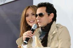 Jennifer Lopez, Marc Anthony lizenzfreies stockfoto