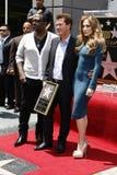 Jennifer Lopez, Randy Jackson, Simon Fuller Stock Photo
