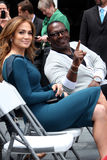 Jennifer Lopez, Randy Jackson, Simon Fuller Royalty Free Stock Photo