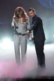 Jennifer Lopez,Ryan Seacrest Royalty Free Stock Photography