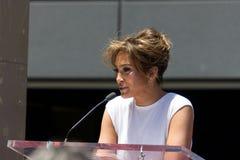 Jennifer Lopez spacer sławy ceremonia Fotografia Royalty Free