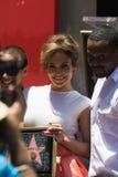 Jennifer Lopez spacer sławy ceremonia Zdjęcia Royalty Free