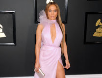 Jennifer Lopez. At the 59th GRAMMY Awards held at the Staples Center in Los Angeles, USA on February 12, 2017 stock photography