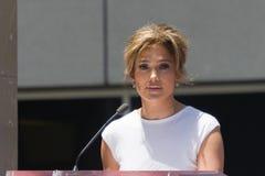 Jennifer Lopez Walk de la ceremonia de la fama Fotografía de archivo libre de regalías