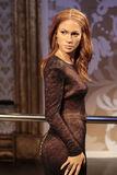 Jennifer Lopez. Wax statue at Madame Tussauds in London royalty free stock photos