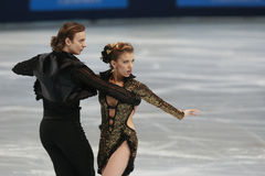 Jennifer Wester-Daniil Barantsev (USA) Royalty Free Stock Photo