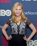"Jennifer Westfeldt. Actress Jennifer Westfeldt arrives on the red carpet for the New York premiere of ""The Normal Heart, "" at the Ziegfeld Theatre in New Royalty Free Stock Photos"
