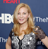 "Jennifer Westfeldt. Actress Jennifer Westfeldt arrives on the red carpet for the New York premiere of ""The Normal Heart, "" at the Ziegfeld Theatre in New Stock Image"