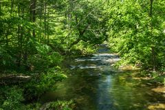 Jennings Creek a Popular Trout Stream - 4. Jennings Creek a popular mountain trout stream located in Botetourt County, Virginia, USA stock photos