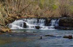 Jennings Creek Waterfalls, Botetourt-Provincie, Virginia, de V.S. - 2 stock foto's