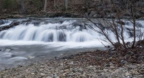 Jennings Creek Waterfalls, la contea di Botetourt, la Virginia, U.S.A. fotografia stock
