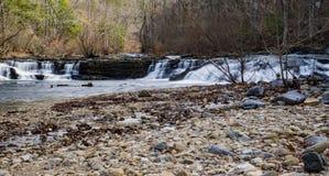 Jennings Creek Waterfalls, la contea di Botetourt, la Virginia, U.S.A. - 3 immagini stock