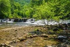 Jennings Creek Waterfalls, la contea di Botetourt, la Virginia, U.S.A. fotografie stock libere da diritti
