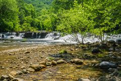 Jennings Creek Waterfalls, Botetourt County, Virginia, USA. Jennings Creek Waterfalls located on Jennings Creek which is a very popular wild mountain trout Royalty Free Stock Photos