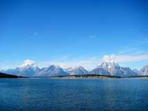 Jenny湖和Teton范围& x28; 怀俄明, USA& x29; 免版税库存图片