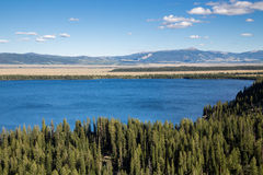 Jenny jezioro przy Uroczystym Teton parkiem narodowym, Wyoming, usa Fotografia Stock